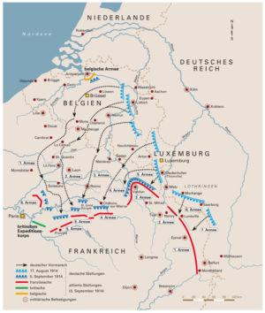 Deutscher Vormarsch 1914