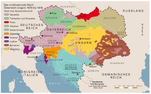 Sprachen in Österreich-Ungarn 1878 bis 1916