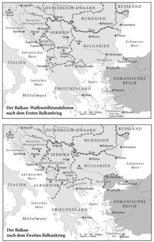 Erster und zweiter Balkankrieg
