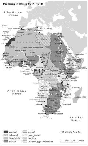 Krieg in Afrika 1914 bis 1918
