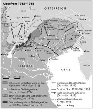 Alpenfront 1915 bis 1918