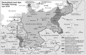 Deutsches Reich nach dem Versailler Vertrag von 1919