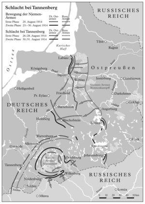 Schlacht bei Tannenberg 1914