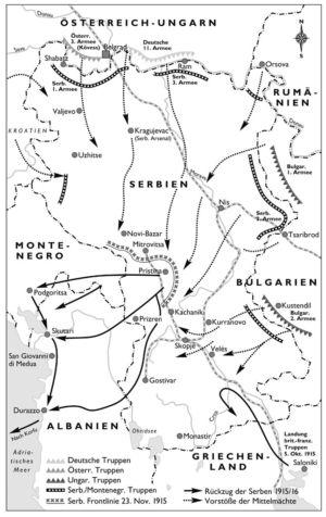 Die Front in Serbien