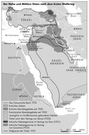 Naher und Mittlerer Osten nach dem Ersten Weltkrieg