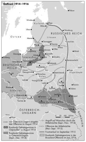 Ostfront 1914 bis 1916