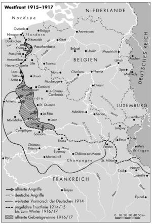 Westfront 1915 bis 1917