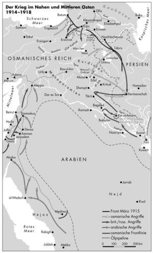 Krieg im Nahen und Mittleren Osten 1914 bis 1918