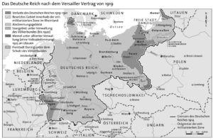 Deutsches Reich nach dem Versailler Vertrag 1919