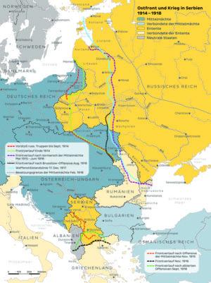 Ostfront und Krieg in Serbien 1914 bis 1918
