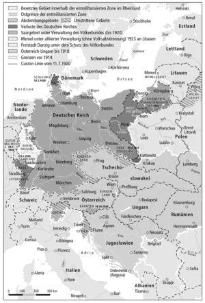 Deutsches Reich 1918 und 1920