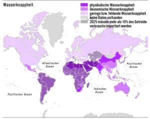 Wasserknappheit in der Welt 2015