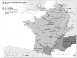 Gallien zur Zeit Caesars