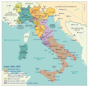 Italien 1843 bis 1870