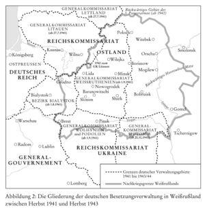 Weißrussland 1941 bis 1943