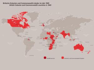 Britische Kolonien und Commonwealth 1945