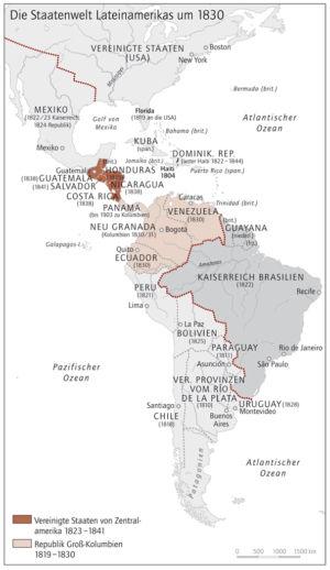 Lateinamerika 1830