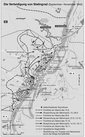 Verteidigung von Stalingrad 1942
