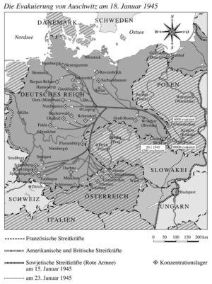 Evakuierung von Auschwitz Januar 1945