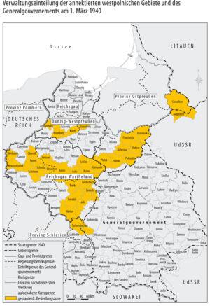 Generalgouvernement und Westpolen 1940