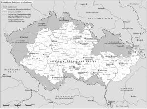 Protektorat Böhmen und Mähren 1940