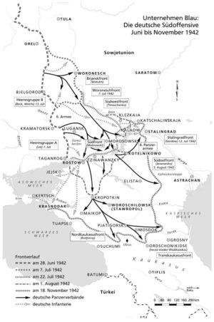 Umgebung von Stalingrad 1942
