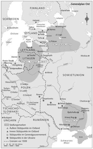 Siedlungsmarken im Osten