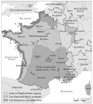 Frankreich 1942 und 1943