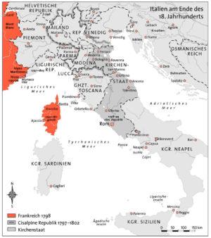 Italien Ende 18. Jahrhundert