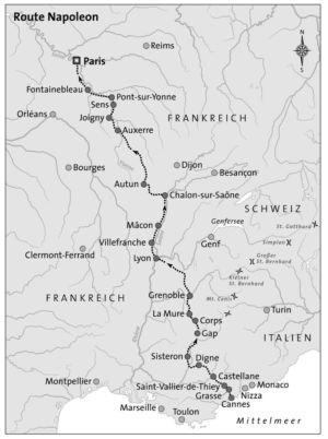 Napoleons Route nach Paris 1815