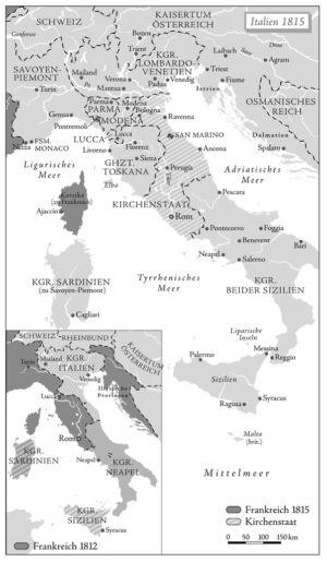 Italien 1812 bis 1815