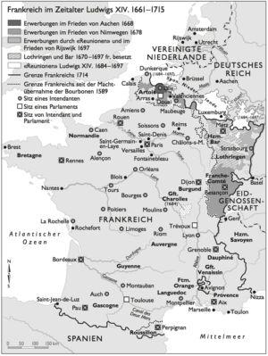 Frankreich 1661 bis 1715