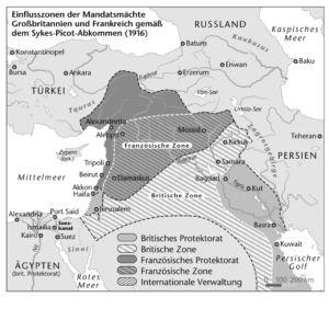 Naher Osten 1916