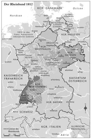 Rheinbund 1812