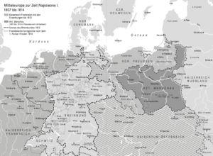 Mitteleuropa 1807 bis 1814