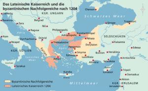 Griechenland und Kleinasien 1204