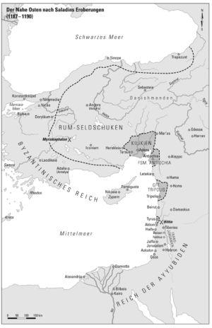 Kleinasien und Levante 1187 bis 1190
