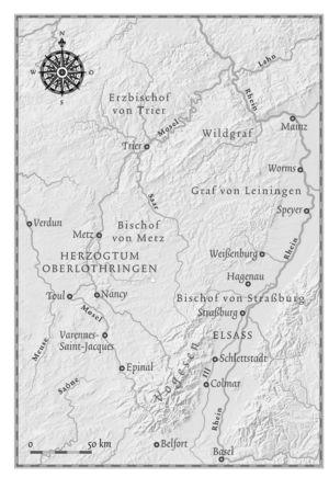 Elsaß und Lothringen 1204