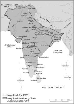 Indien 1605 bis 1700
