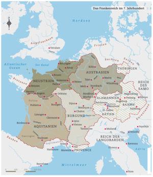 Frankenreich im 7. Jahrhundert