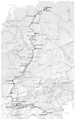 Reise von Hamburg nach Canossa