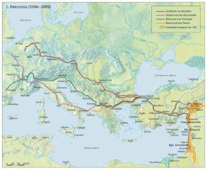 Erster Kreuzzug 1096 bis 1099