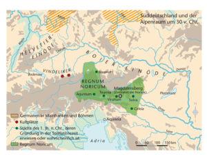 Süddeutschland und die Alpen