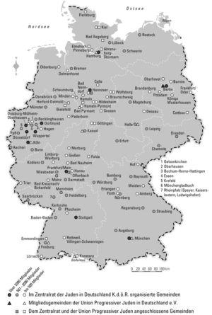 Jüdische Gemeinden in Deutschland 2009
