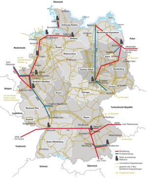 Pipelines in Deutschland