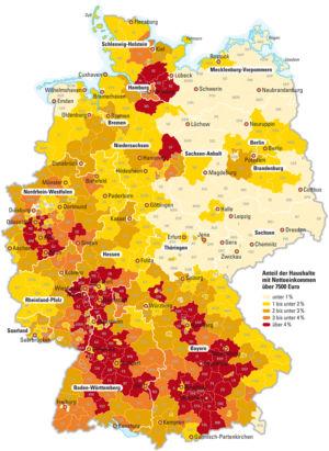 Topverdiener in Deutschland 2008
