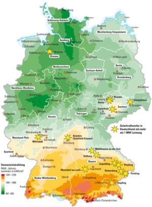 Sonne in Deutschland