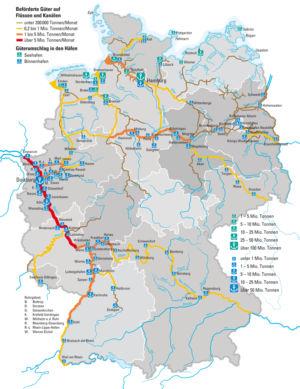 Wasserstraßen in Deutschland 2009