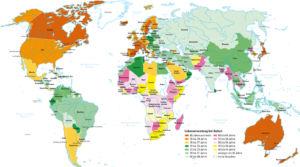 Lebenserwartung in der Welt