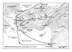 Reiseroute Herodes